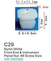 Forsage Клипса для крепления внутренней обшивки а/м GM пластиковая (100шт/уп.) Forsage клипса F-C29( GM )