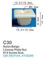 Forsage Клипса для крепления внутренней обшивки а/м GM пластиковая (100шт/уп.) Forsage клипса F-C30( GM )