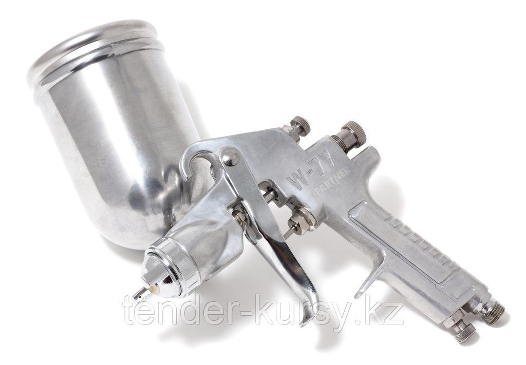 Partner Краскораспылитель с боковым металлическим бачком (400мл, 2,0мм, 3.5 bar, 85-113 л/мин, присоед. резьба