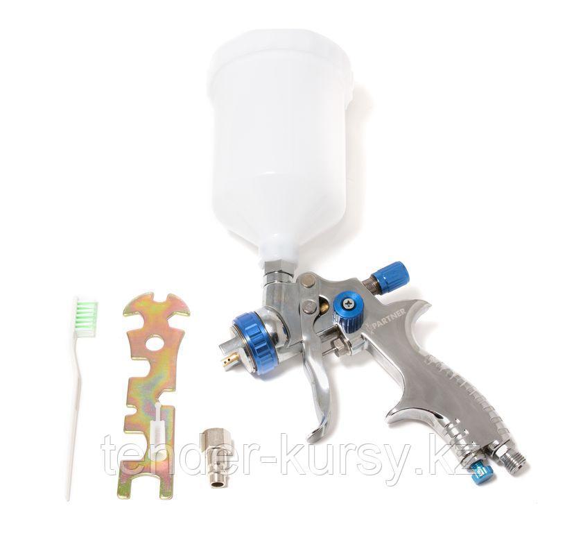 Partner Краскораспылитель с верхним пластиковым бачком (600мл, 1.7мм, 1.5bar, 128-170 л/мин, присоед. резьба