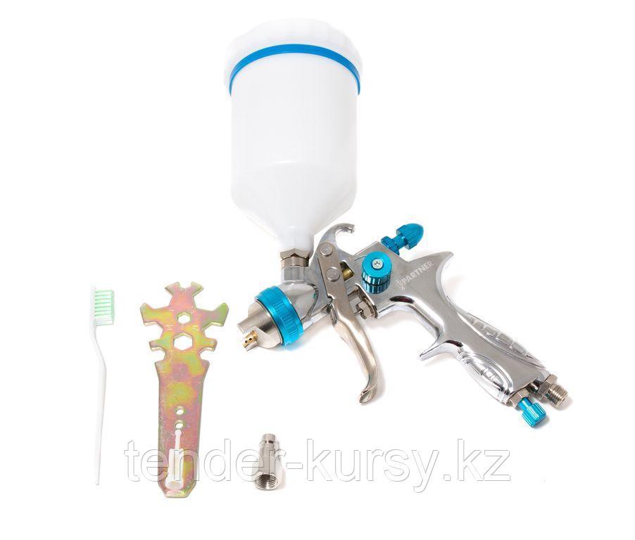 Partner Краскораспылитель с верхним пластиковым бачком (600мл, 1.7мм, 3.5bar, 100-128 л/мин, присоед. резьба