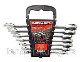 BaumAuto Набор ключей комбинированных трещоточных 7 предметов (8,10,12-14,17,19мм) в пласт. держателе BaumAuto
