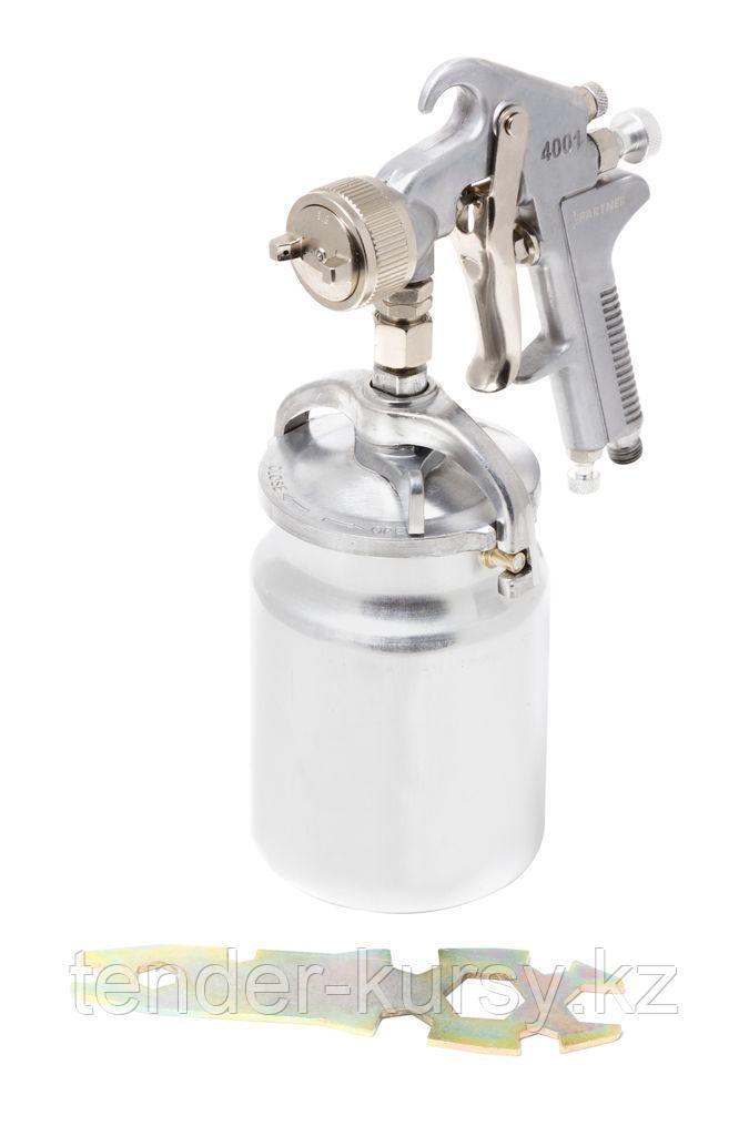 Partner Краскораспылитель с нижним металлическим бачком (1000мл, 1.8мм, 4.0bar, 85-114 л/мин, присоед. резьба