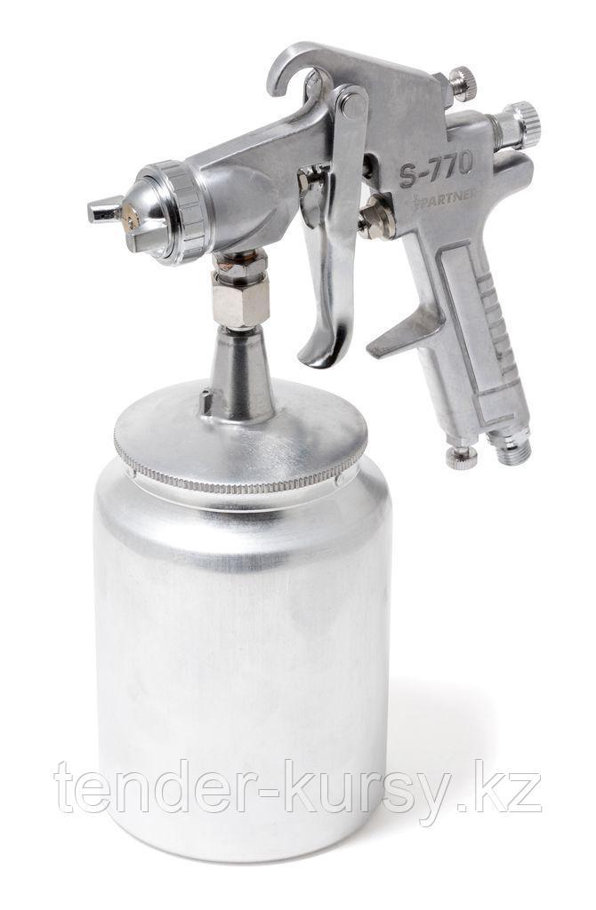 Partner Краскораспылитель с нижним металлическим бачком (1000мл, 2.5мм, 5 bar, 85-113 л/мин, присоед. резьба