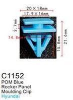 Forsage Клипса для крепления внутренней обшивки а/м КИА пластиковая (100шт/уп.) Forsage клипса F-C1152(KIA)