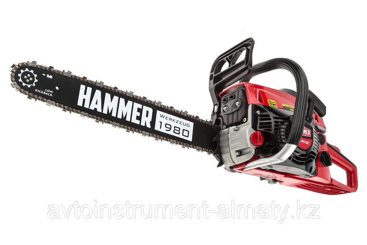 "Hammer 569550 Бензопила Hammer BPL4518C  2кВт/2,7лс 45см3 шина 18"" цепь 0,325""-1,5мм-72 6кг Hammer BPL4518C"