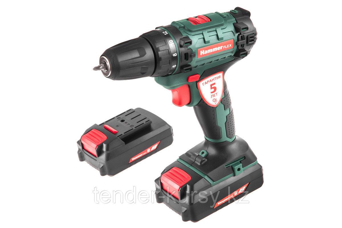 Hammer 583432 Аккум.дрель Hammer Flex ACD140Li  14,4В 2x1.5Ач 10мм 0-350/0-1250об/мин 31Нм в кейсе быстр