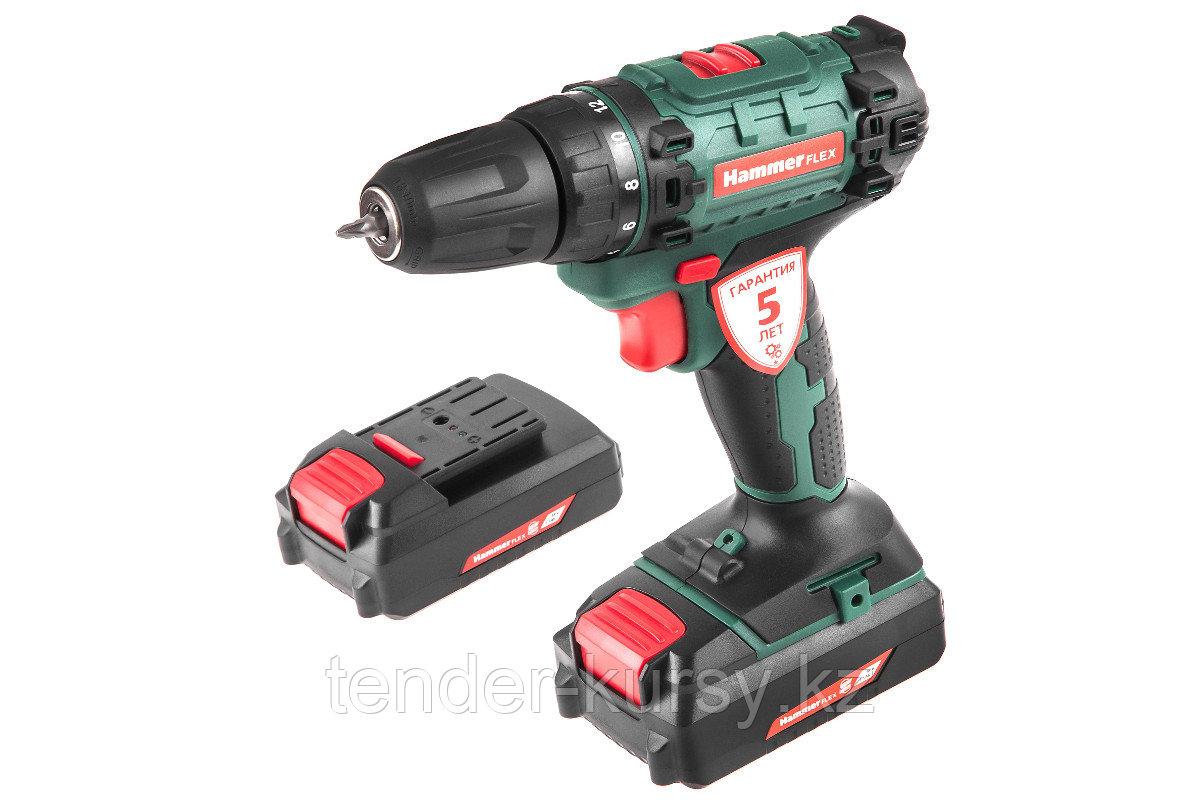 Hammer 583434 Аккум.дрель Hammer Flex ACD180Li  18В 2x1.5Ач 10мм 0-350/0-1250об/мин 35Нм в кейсе быстр зарядка