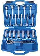 ROCKFORCE Набор инструментов для снятия и установки амортизаторов 18 предметов(16,17,18,19,21,22,24мм;