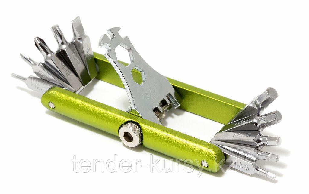 BaumAuto Набор ключей складной 11 предметов(Н:2,2.5,3,4,5,6; PH;1,2; Т25; SL:6мм; HEX:3, 3.5, 4, 8, 10мм), в