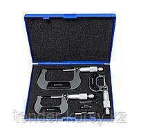 Forsage Набор микрометров, 3 предмета (0-25, 25-50, 50-75мм, 0.01мм), в футляре Forsage F-5096P03 18012