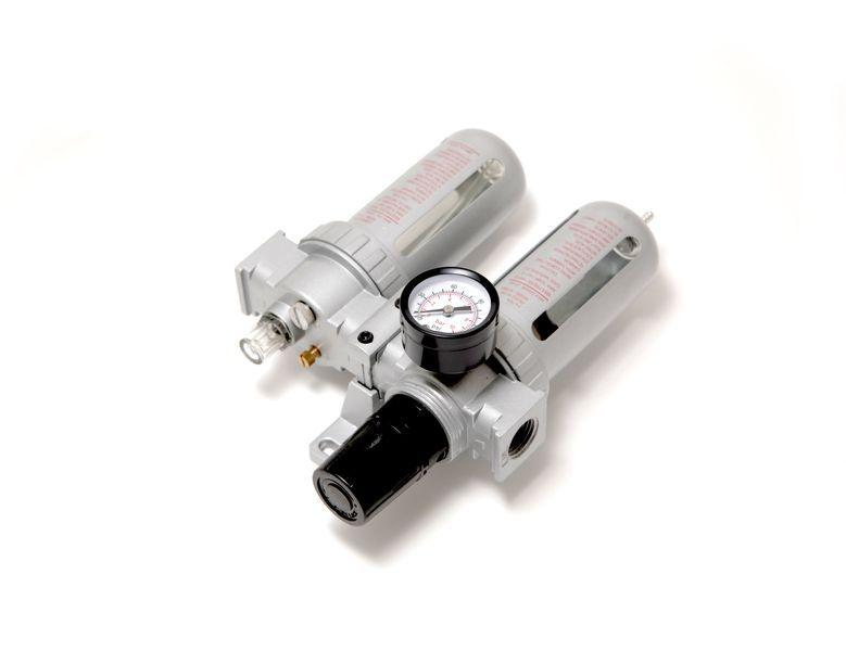 """Forsage Блок подготовки воздуха для пневмосистемы 3/8""""(фильтр-регулятор + лубрикатор, диапазон регулировки"""
