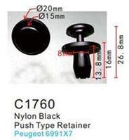 Forsage Клипса для крепления внутренней обшивки а/м Пежо пластиковая (100шт/уп.) Forsage клипса F-C1760(