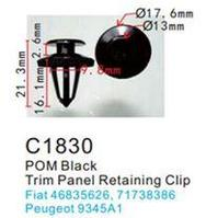 Forsage Клипса для крепления внутренней обшивки а/м Пежо пластиковая (100шт/уп.) Forsage клипса F-C1830(