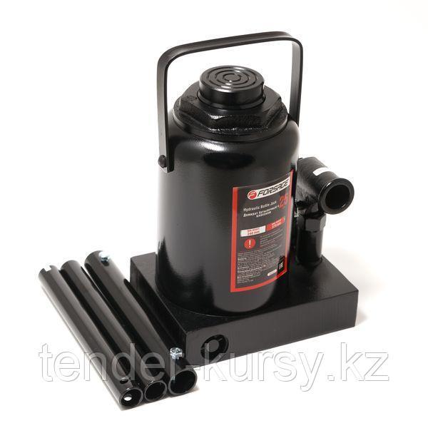 Forsage Домкрат бутылочный 25т низкопрофильный (высота подхвата - 240мм, высота подъема - 375мм, ход штока -