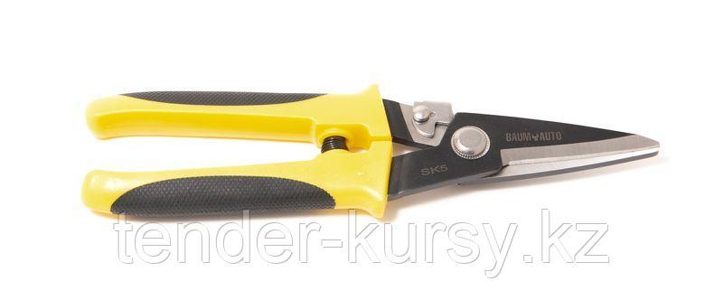 """BaumAuto Ножницы для листового металла 0,8мм, прямые, с верхней фиксацией и возвратной пружиной 8""""-200мм в"""