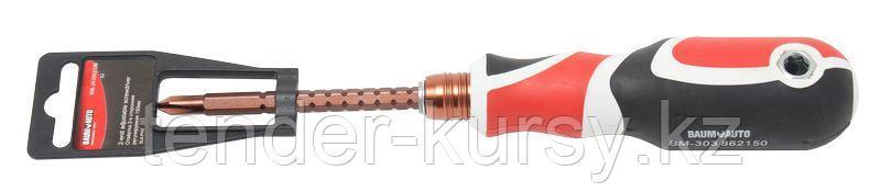 BaumAuto Отвертка переставная усиленная (PH2х6мм)150мм. BaumAuto BM-303862150 15728