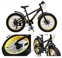"""Forsage Велосипед подростковый Фэтбайк(рама:алюм.,Ø колес:20"""",7 скоростей, диск. тормоза перед/зад, покрышки"""