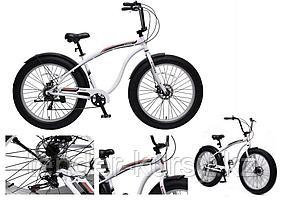 "Forsage Велосипед Фэтбайк(рама:алюм.,Ø колес:26"",7 скоростей, диск. тормоза Tektro перед/зад, покрышки 4"","