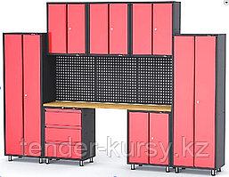 ROCKFORCE Комплект металлической гаражной мебели 11 предметов 460х2180х3330мм (шкаф навесной двухстворчатый 1