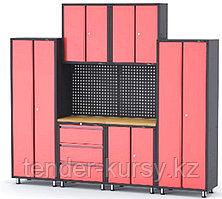 ROCKFORCE Комплект металлической гаражной мебели 9 предметов 460х2180х2670мм (шкаф навесной двухстворчатый 1