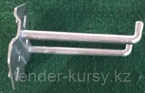 ROCKFORCE Крючок металлический двойной для перфорированной панели (Ø-6мм, L-75мм) ROCKFORCE RF-01A10 14939