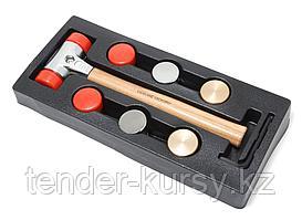 Forsage Молоток рихтовочный с комплектом насадок (L-400 мм, диам. бойка-40мм), в ложементе Forsage F-01717