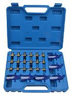 ROCKFORCE Набор адаптеров для тестера обратки  дизельных форсунок системы Common Rail 24 предмета, в кейсе