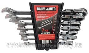 BaumAuto Набор ключей комбинированных трещоточных с шарниром 7 предметов (8, 10, 12-14, 17, 19мм) в пласт.