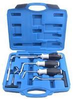 ROCKFORCE Набор крючков для демонтажа уплотнительных колец и сальников 6 предметов, в кейсе ROCKFORCE