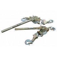 ROCKFORCE Лебедка рычажная тяговая с дополнительным спусковым механизмом, 4т (двойное зубч. колесо, диаметр