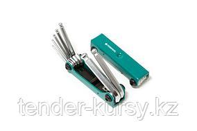 Forsage Набор ключей 6-гранных с шаром складной, 7 предметов(2.5, 3- 6, 8, 10мм) Forsage F-5072BF 27331