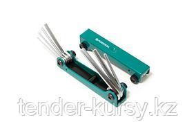 Forsage Набор ключей 6-гранных складной, 7 предметов(1.5, 2, 2.5, 3-6мм) Forsage F-5076F 27335