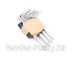 ROCKFORCE Набор ключей TORX Г-образных с отверстием,15 предметов(Т6Н,T7H,T8H,T9H,Т10Н,Т15Н,Т20Н,Т25Н,Т27Н,