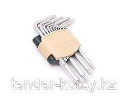 ROCKFORCE Набор ключей TORX Г-образных, 15 предметов(Т6, T7, T8, T9, Т10, Т15, Т20, Т25, Т27, Т30, Т40, Т45,