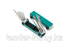 ROCKFORCE Набор ключей TORX складной, 8 предметов(T9, T10, T15, T20, T25, T27, T30, T40) ROCKFORCE RF-5083F