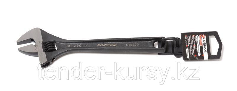Forsage Ключ разводной Profi CRV(захват 24мм, 200ммL, кованная сталь, Taiwan), на пластиковом держателе