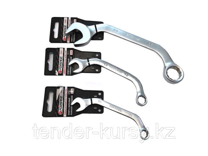 Forsage Ключ рожково-накидной С-образный 15мм на пластиковом держателе Forsage F-76115 29667