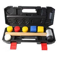 Forsage Молоток рихтовочный с набором насадок(L-320 мм, диам. бойка-40мм, квадратный боек-40х40мм), в кейсе