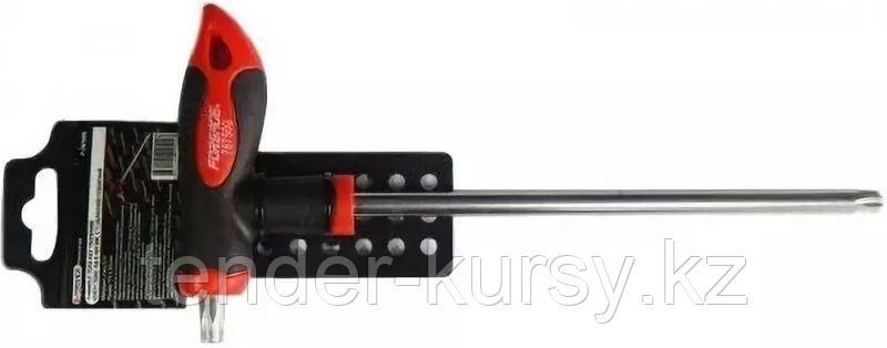 Forsage Ключ Т-образный 6-гранный с шаром и прорезиненной рукояткой H10x200мм, на пластиковом держателе