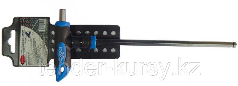 ROCKFORCE Ключ Т-образный 6-гранный с шаром и прорезиненной рукояткой H2x75мм, на пластиковом держателе