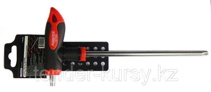 Forsage Ключ Т-образный TORX с прорезиненной рукояткой T10х75мм, на пластиковом держателе Forsage F-76710G