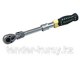 ROCKFORCE Трещотка реверсивная  шарнирная телескопическая с резиновой ручкой  3/8 L240-310мм (72зуб.)