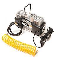 Forsage Компрессор поршневой автомобильный двухцилиндровый с фонарем в пластиковом кейсе  с цифровым