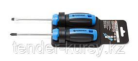 Forsage Набор отверток магнитных(SL6х100,PH2х100) 2 предметана пластиковом держателе Forsage F-2024 25949