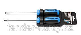 Forsage Набор отверток магнитных(SL6х150,PH2х150) 2 предметана пластиковом держателе Forsage F-2025 25950