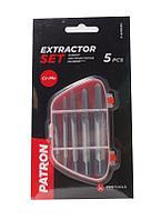 PATRON Набор экстракторов резьбы  HSS 4241,6 предметов(М3-М25), в пластиковом футляре PATRON P-63005C 29874