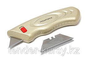 ROCKFORCE Нож универсальный в металлическом корпусе с запасными лезвиями 3шт, в блистере ROCKFORCE RF-5055P42