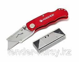 """Forsage Нож универсальный складной с запасными лезвиями 10шт (крепление """"на пояс""""), в блистере Forsage"""