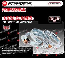 Forsage Хомут червячный металлический 25-40мм, 50шт(антикорозийное покрытие Zn 9mkm, гальвинизированная сталь,